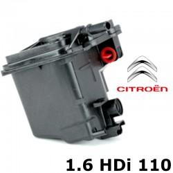 KIT 4 filtres : air + huile + gasoil + habitacle pour révision / vidange moteur 1.6 HDi